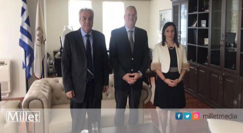 Milletvekili İlhan Ahmet, Rektör Aleksandros Polihronidis ile görüştü