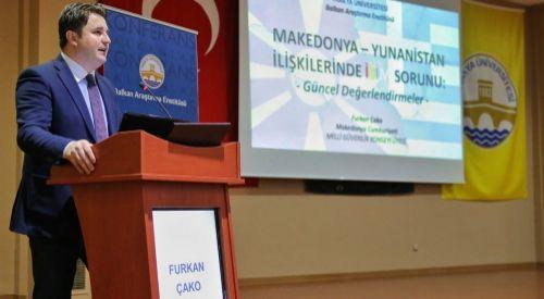 'Makedonya – Yunanistan İlişkilerinde İsim Sorunu: Güncel Değerlendirmeler' konferansı