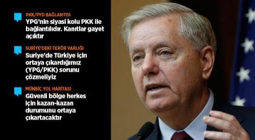 Graham: Suriye'de ortaya çıkardığımız YPG/PKK sorununu çözmeliyiz