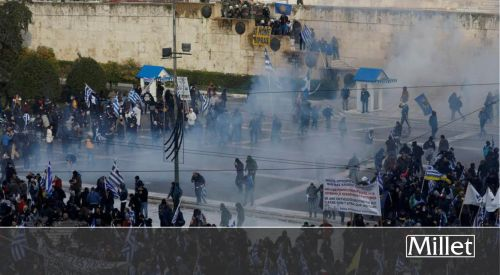 Atina'da olaylı 'Makedonya' gösterisi