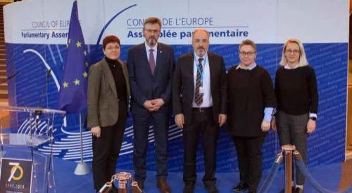 Batı Trakya Türk Azınlık heyeti Avrupa Konseyi'nde