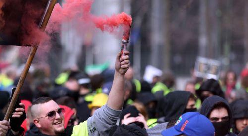 Brüksel'de iklim protestosu