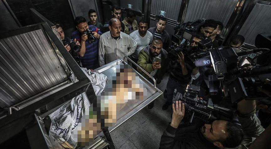 İsrail'in Gazze saldırılarında Filistinli bir bebek şehit oldu