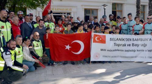 Selanik'ten alınan bayrak ve toprak Silivri'ye ulaştı