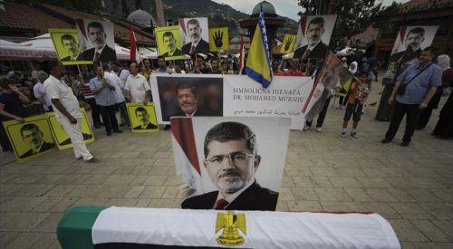 Saraybosna'da 'Muhammed Mursi' için gösteri