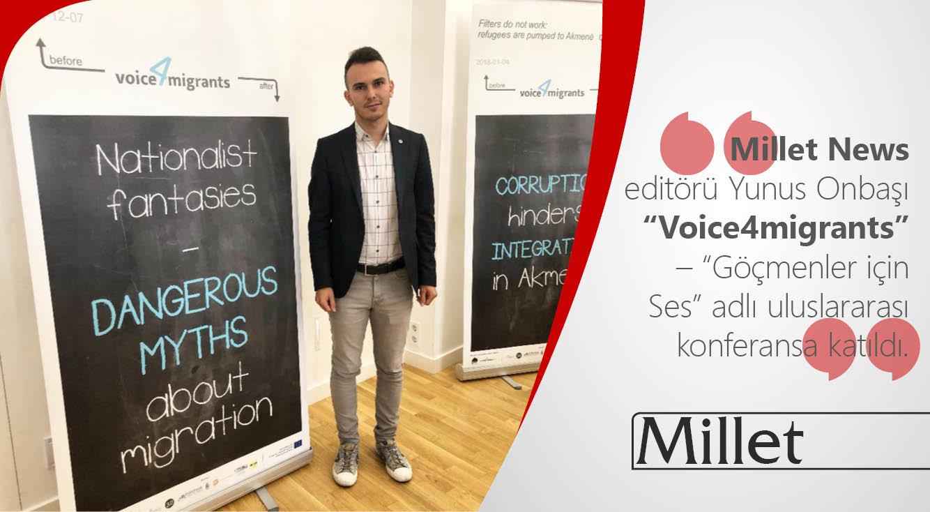 """Millet News Litvanya'da """"Göçmenler için Ses"""" adlı uluslararası konferansa katıldı"""