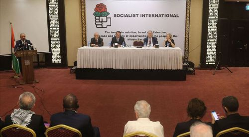Sosyalist Enternasyonalden dünyaya Filistin'i derhal tanıma çağrısı