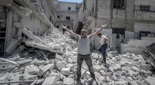 'Suriye'deki köy ve kasabaların yerle bir olduğu görünüyor'