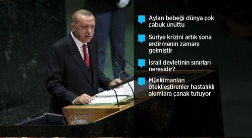 Erdoğan BM'de konuştu: Dünya 5'ten büyüktür