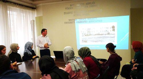 Tarihçi Harun HALİL gençlere Trakya tarihini anlattı