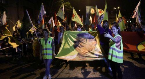 Türkiye'nin Atina Büyükelçiliği önünde YPG/PKK eylemi