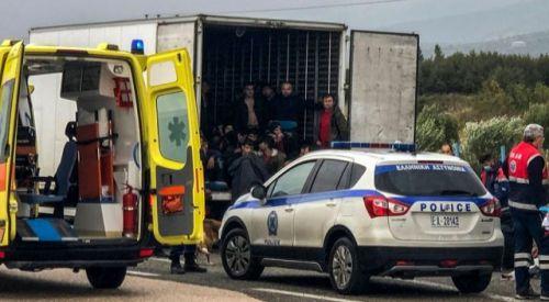 İskeçe'de donduruculu TIR'da 41 mülteci bulundu
