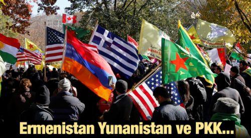 Ermenistan, Yunanistan ve PKK'lılardan Türkiye karşıtı gösteri