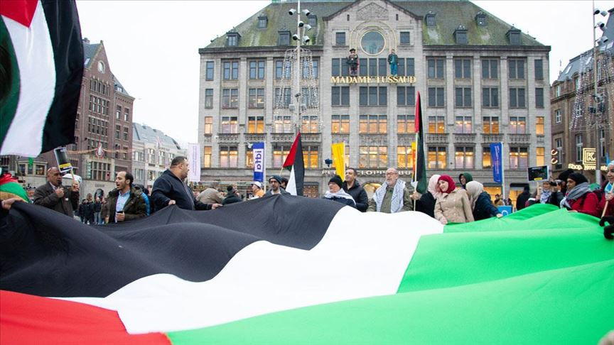 Hollanda'da İsrail protestosu