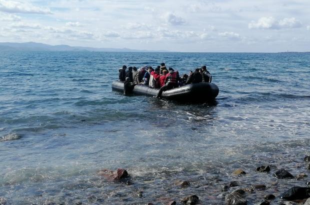 Ayvacık'tan bota bindirilen mülteciler 25 dakikada Yunanistan'da