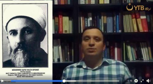 Batı Trakyalı tarihçi Harun Halil Müderris Hafız Salih Efendi'yi anlattı