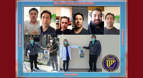 İskeçe Türk Birliği yüz maskesi yapımı ve dağıtımına devam ediyor