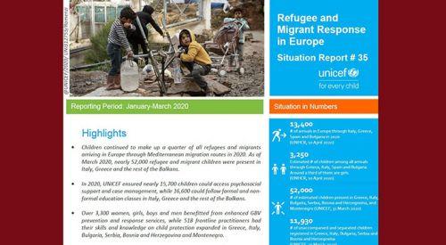 Avrupa'ya ulaşan mülteci ve göçmen çocukların büyük çoğunluğu Yunanistan'da bulunuyor