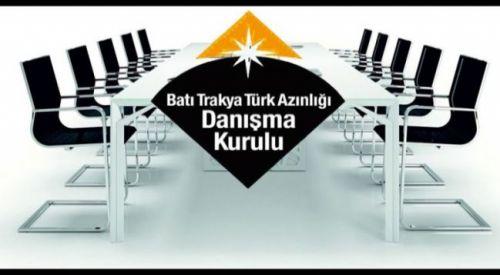 Batı Trakya Türk Azınlığı Danışma Kurulundan açıklama