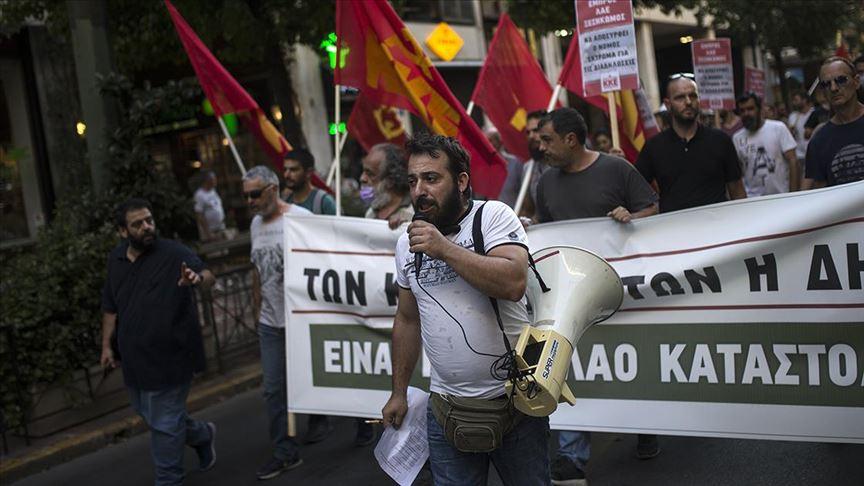 Yunanistan'da gösterileri kısıtlama tasarısı protesto edildi
