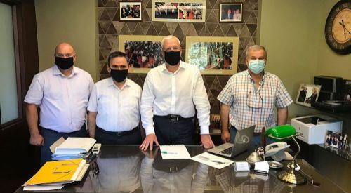 Eğitim dernekleri Milletvekili İlhan AHMET'i ziyaret etti