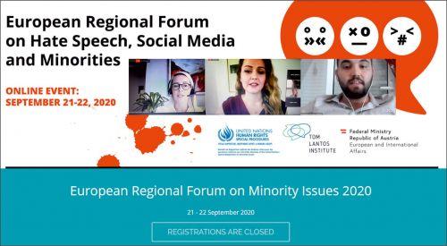 Batı Trakya Türk heyeti Avrupa Azınlık Sorunları Bölgesel Forumu'na katıldı