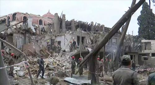 Πυραυλικές επιθέσεις αρμενικών δυνάμεων κατά αμάχων στο Αζερμπαϊτζάν