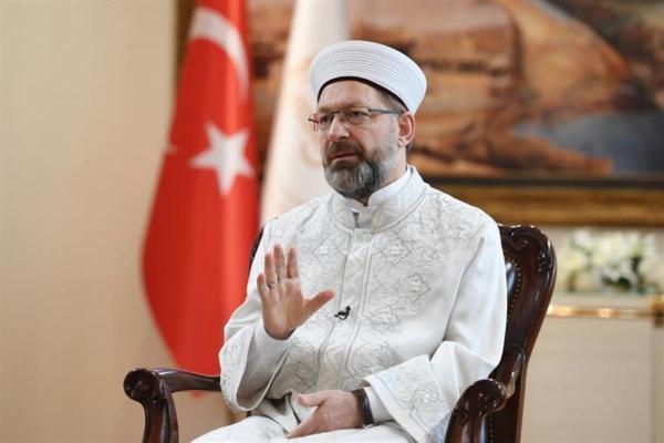 Diyanet İşleri Başkanı Erbaş'tan Müslümanlara hakaret eden Başbiskopos'a tepki