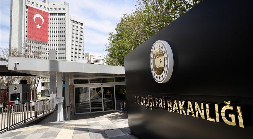 Türk Dışişleri Bakanlığı: Haddini bilmez ifadeleri şiddetle kınıyoruz