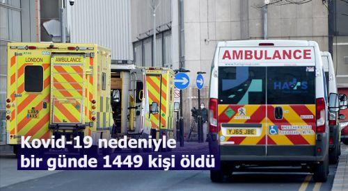 İngiltere'de Kovid-19 nedeniyle bir günde 1449 kişi öldü