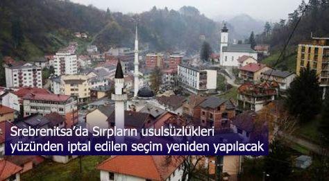 Srebrenitsa'da usulsüzlük nedeniyle iptal edilen seçim 21 Şubat'ta yapılacak