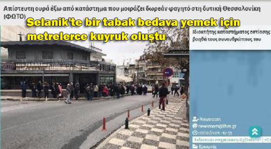 Yunanistan'da yoksulluk derinleşiyor: Halk bedava yemek için kuyruklarda