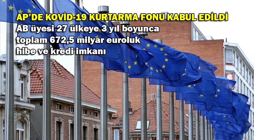Avrupa Parlamentosu, 672,5 milyar euroluk Kovid-19 kurtarma fonunu onayladı