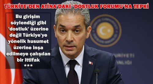"""Türkiye: """"Yunan-Rum ikilisini aklıselime davet ediyoruz"""""""