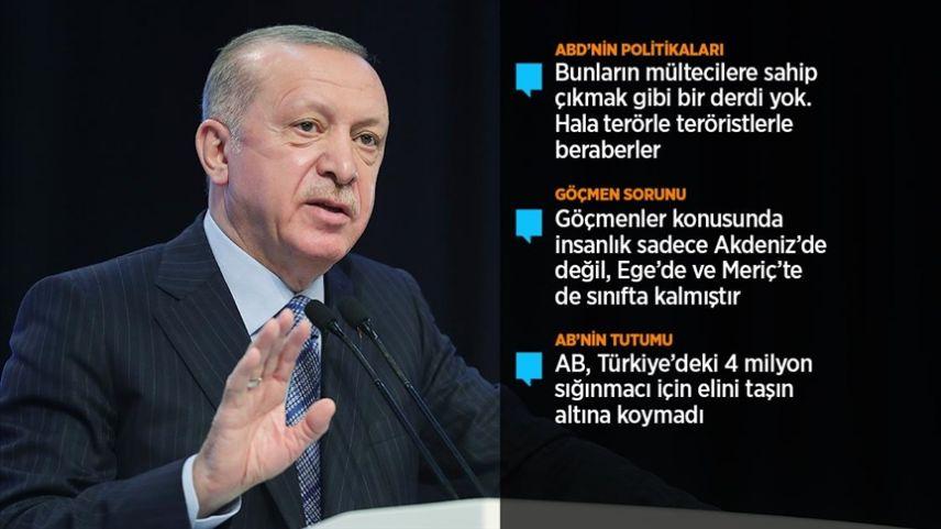 """Erdoğan: """"Yunan güvenlik güçleri mültecilere açıkça zulmetti"""""""
