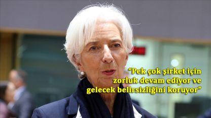 Avrupa Merkez Bankası Başkanı: Şirketlere uygun finansal koşullar sağlanacak