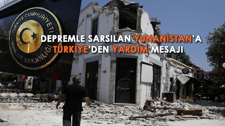 Yunanistan: Çavuşoğlu, Larissa'daki depremden sonra yardıma hazır olduklarını ifade etti