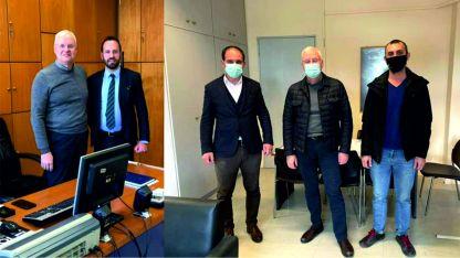İlhan AHMET, Eyalet Başkan Yardımcıları Ahmet İbram ve Cihan İmamoğlu ile başkan danışmanı Tarkan Multaza'yı ziyaret etti