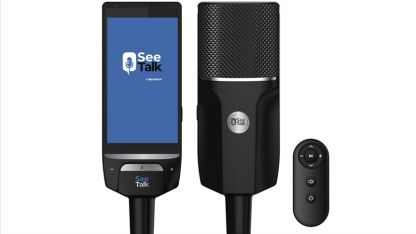 Yeni teknoloji ürünü 'SeeTalk', prompter ve mikrofonu buluşturdu