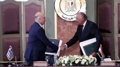 Dışişleri Bakanı Dendias Kahire'ye gitti