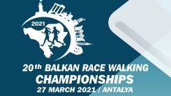 Balkan Yürüyüş Şampiyonası, 27 Mart'ta Antalya'da yapılacak