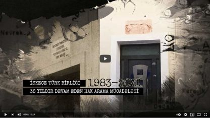 İskeçe Türk Birliği'nin 38 yıllık hak arama mücadelesi kısa filmle anlatıldı