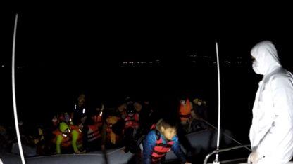 Yunanistan'dan Türk kara sularına geri itilen 220 sığınmacı kurtarıldı