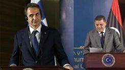 Libya Başbakanı Dibeyde konuştu, Miçotakis'in yüzü şekilden şekle girdi