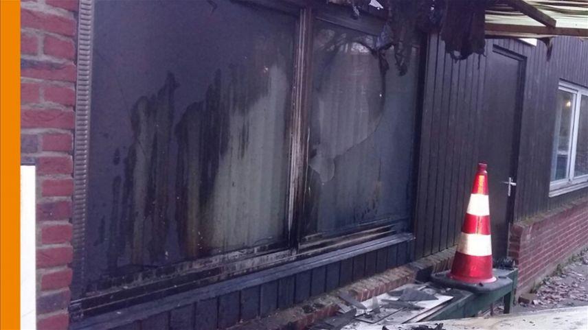 Fransa'da bir cami kundaklandı