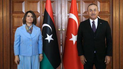 Türkiye Dışişleri Bakanı Çavuşoğlu, Libyalı mevkidaşı Menguş'la bir araya geldi