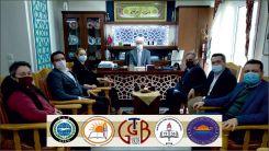 Türk Azınlık kurumları BTTADK Başkanı İbrahim Şerif'i ziyaret etti