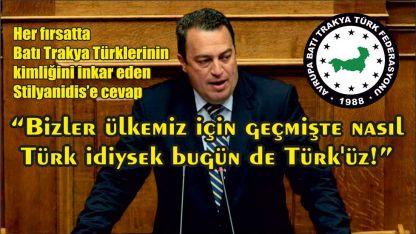 """""""Bizler ülkemiz için geçmişte nasıl Türk idiysek bugün de Türk'üz!"""""""