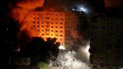 İsrail savaş uçakları Gazze'de sivillerin yaşadığı 9 katlı bir binayı vurdu