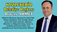 Kozlukebir Belediye Başkanı Rıdvan AHMET soydaşların Ramazan bayramını kutladı
